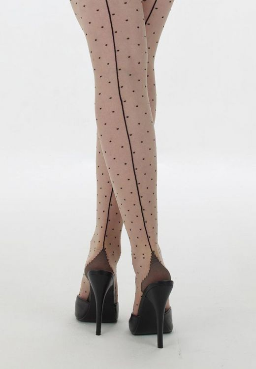 Retro Seamed Dot Tights